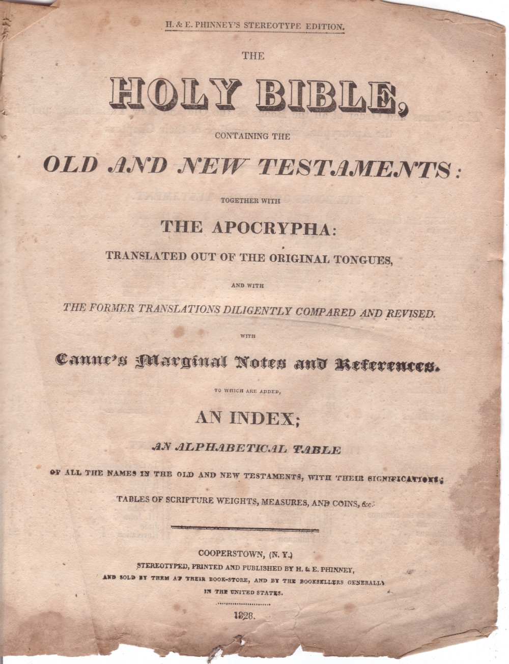 The Holy Bible Old And New Testament 1806 With Index Apocrypha | Dog ...